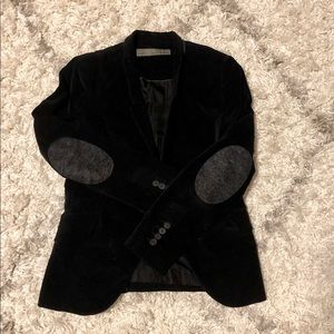 Zara Black velvet blazer